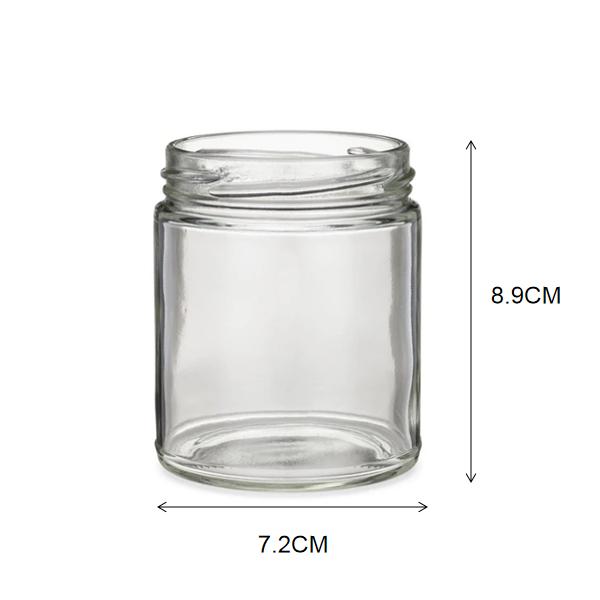 8OZ Glass Jar with Size