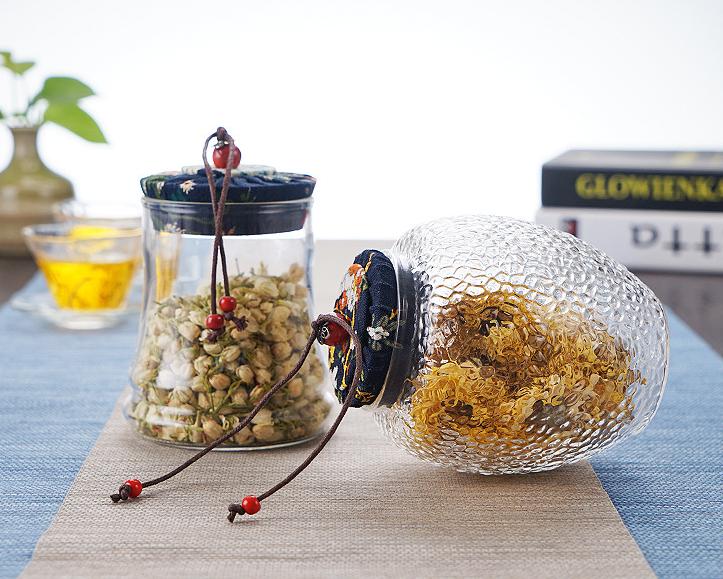 Embossed-Glass-Jar